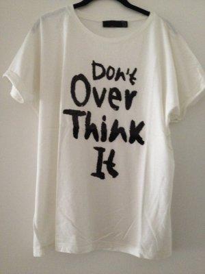 Zara Oversized Shirt white-black