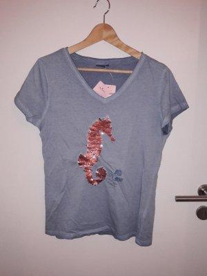 Shirt mit Pailetten Seepferdchen
