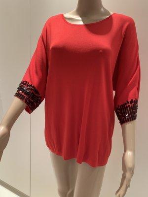 Beauty Women Boatneck Shirt red-black