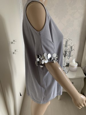 Shirt mit Pailletten gr L/Xl neu mit Edikett 89% Viscose
