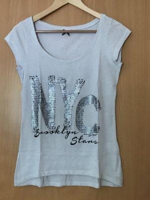 Shirt mit Paillettenaufschrift