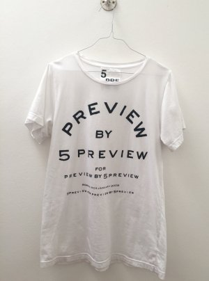 5 Preview T-shirt bianco-nero