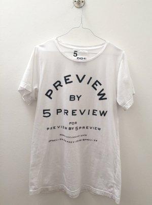 5 Preview T-shirt wit-zwart