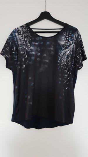 Shirt mit Print und tiefem Rückenausschnitt Gr. S