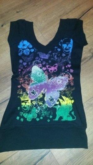 Shirt mit Print V-Ausschnitt
