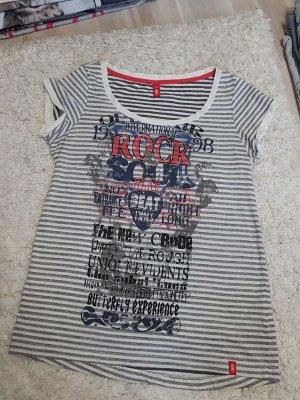 Shirt mit Print XS geringelt