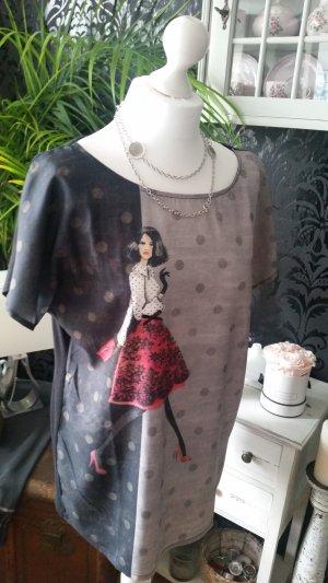 Shirt mit Punkten & Print ♡