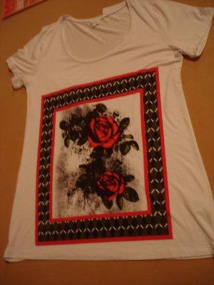 Shirt mit Rosen von Alba Moda Gr. 42
