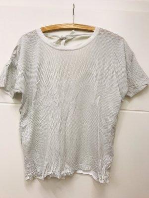 COS T-shirt bianco-grigio chiaro