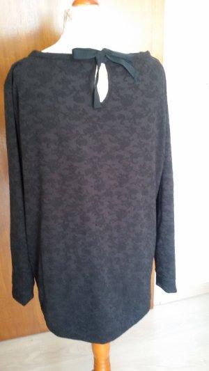 C&A Camisa larga negro tejido mezclado