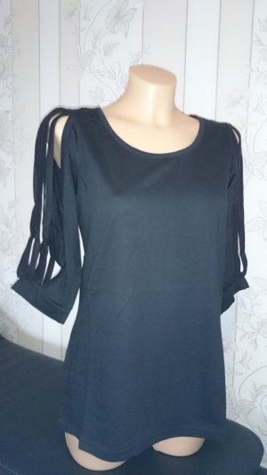 Shirt mit Schlitzärmeln von Chillytime in schwarz GR. 32