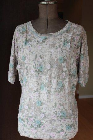 Shirt mit Schmetterlingsärmel mit Blumenmuster von Street One