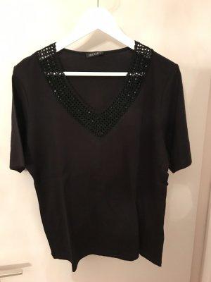 Monari Gehaakt shirt zwart