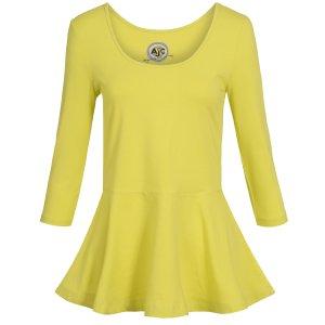 Shirt mit Schößchen Langarmshirt Sweatshirt Peplum
