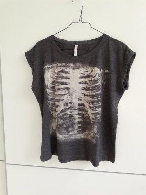 Shirt mit Skelett Print