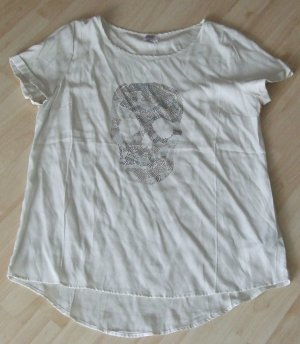 Shirt mit Skull Totenkopf - Strass - SAINT TROPEZ - Gr. L -  NEU