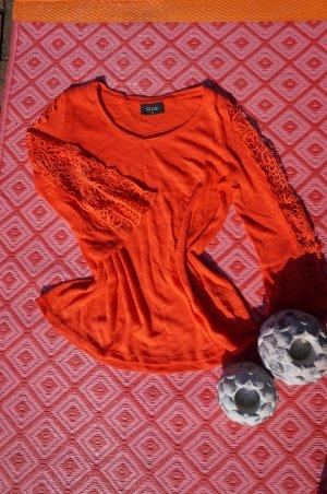 Gina Benotti Crochet Shirt salmon