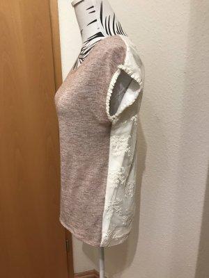 Camiseta blanco puro-rosa