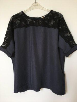 Zara Oversized shirt zwart-grijs-paars
