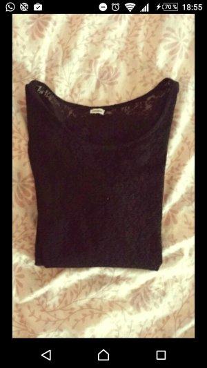Shirt mit Spitze, schwarz, Pimkie