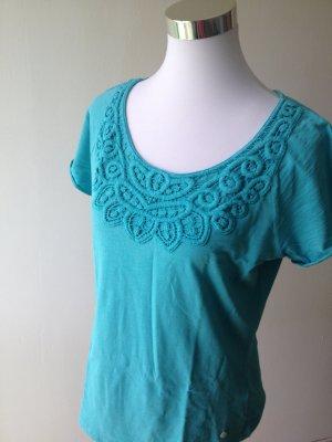 Shirt mit Spitze, super Farbe, Größe M