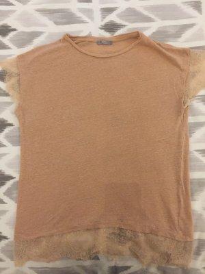 Shirt mit Spitze, ZARA, Gr. L, rosa