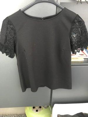 Shirt mit Spitzenärmeln