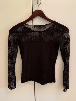 s.Oliver Camisa de malla negro