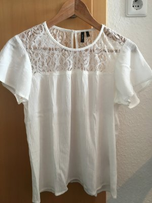 Shirt mit Spitzenpass, Vero Moda