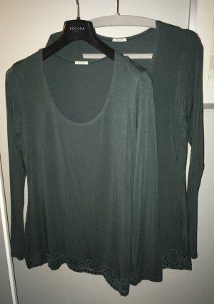 Shirt mit Spitzensaum, 2er-Set