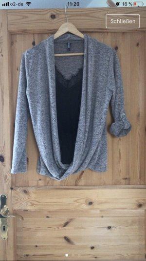 Colloseum Maglietta aderente grigio-nero