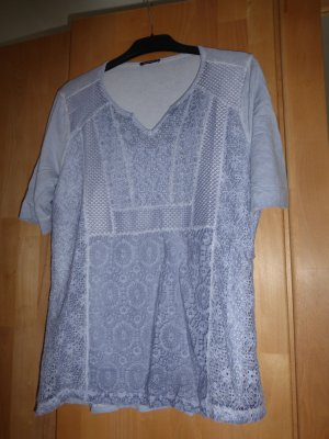 Bianca V-Neck Shirt pale blue viscose