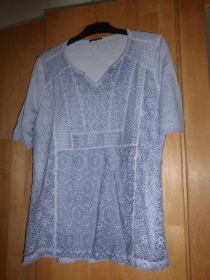 Bianca V-hals shirt lichtblauw Viscose