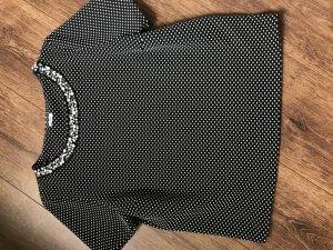 Shirt mit Steinchen und Punkten