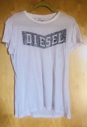 Diesel T-shirt bianco-bronzo