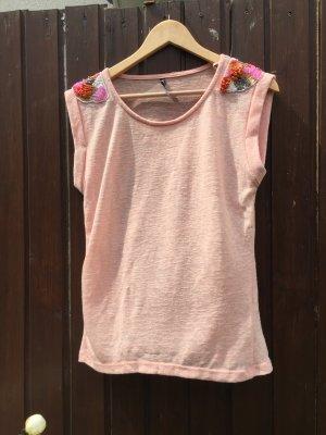 Camisa tejida rosa claro