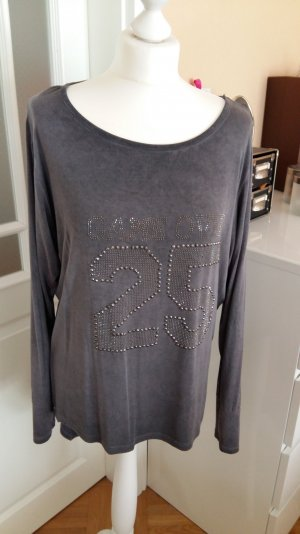 Shirt mit Strassaufdruck