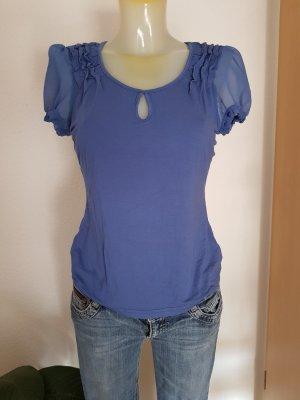 Shirt mit transparenten Ärmeln