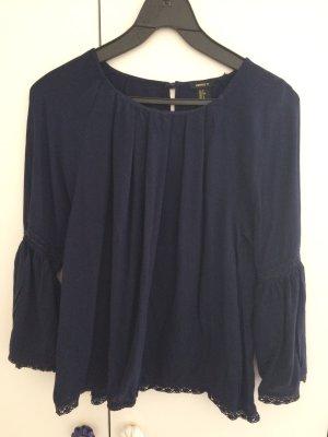 Shirt mit Trompetenärmeln und Spitze - Forever21