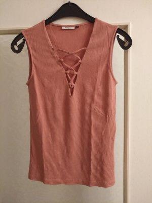 Only Camisa acanalada rosa
