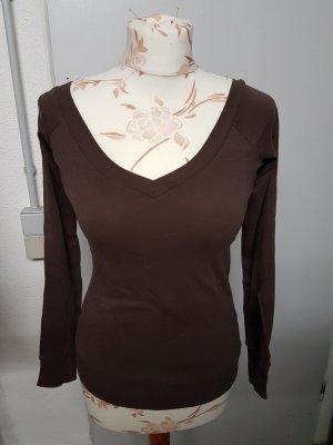 Shirt mit V-Ausschnitt vorne und am Rücken/sehr figurbetont