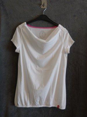 Shirt mit Wasserfall-Ausschnitt von Esprit