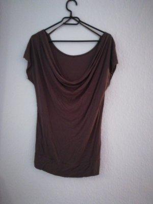 Cowl-Neck Shirt brown