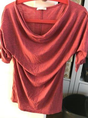 Shirt mit Wasserfallausschnitt