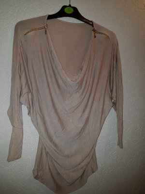 Cowl-Neck Shirt beige