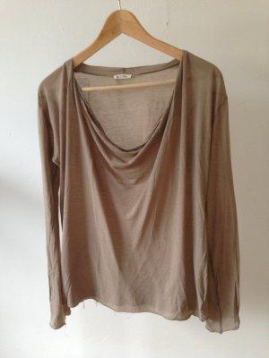 American Vintage Cowl-Neck Shirt light brown-beige