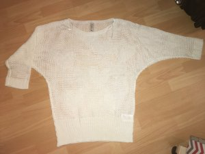 Multiblu Top en maille crochet beige