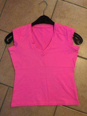 T-shirt neonroos-roze
