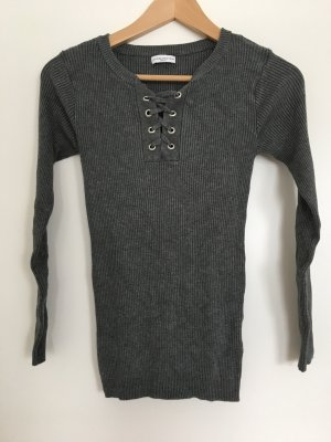 Ribbed Shirt anthracite