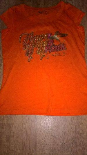 Camiseta estampada salmón Algodón